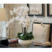 China Wholesale Potted Orchids Artificial Flower Arrangements on sale
