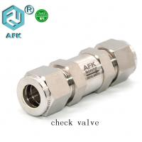 China Stainless Steel High Pressure Flow Control One Way Check valve on sale