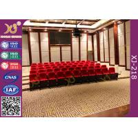 China Polyurethane Foam Soft Padded Lecture Hall Seating Gravity Return Mechanism on sale