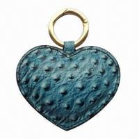 Quality Leather Keychain in heart shape for sale