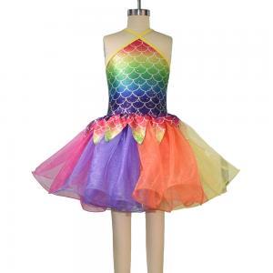 Buy cheap Rainbow Skirt Fish Dance Tutu Dress Wear Halter Triangle Top Back Crossing from wholesalers
