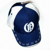 Quality 100% Cotton Baseball Cap with 3-D Embroidery at Front for sale
