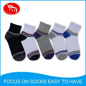 Quality Mens knitted striped jacquard socks Custom Socks,Mens Socks,Cotton Socks for sale