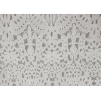 Quality 120cm Wide Polyester Water Soluble Lace Fabric , Eyelet Vintage Lace Fabric for sale