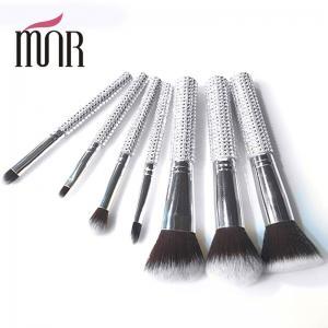 Buy cheap Bling Bling Travel Makeup Brushes , Rhinestone 7 Pcs Face Makeup Brush Set product