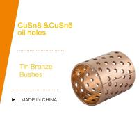 Quality DIN 1494 / ISO 3547 CUSN8P Wrapped Tin Bronze Bushes Sliding Bearing With Perforations Lubrication Pockets for sale