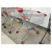 Quality Removable Wheeled Supermarket Shopping Cart / Steel Wire Carts With PVC Wheels for sale