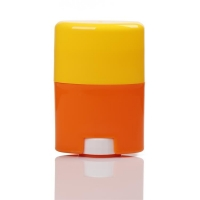 Quality 30g 50g 75g Orange and Yellow Twist-up Solid Sticker Deodorant Bottles for sale