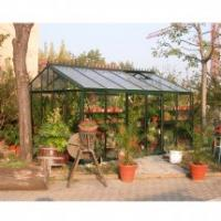 Quality royal innovative luxurious glazing plan tempered glass glsshouse/garden hutch for garden houseHX91503L for sale