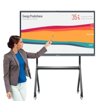 Quality 75 Inch Interactive Board Wireless Finger Touch Writing Whiteboard Android PC SOP System Smartboards For School for sale