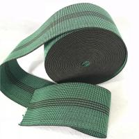Quality Durable Synthetic Rubber Elastic Webbing For Sofa In Green Color 6cm 460B# for sale