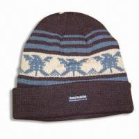 Quality Acrylic Jacquard Hat with Thinsulate Lining for sale