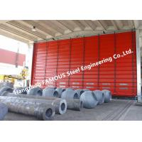 Quality High Speed Fold Up Pack Doors PVC Curtain Sectional Lifting Doors With Belted Opening System for sale