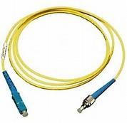 Quality ST to SC Simplex Singlemode 9 / 125 μm Fiber Optic Patch Cord in Yellow PVC Jacket for sale
