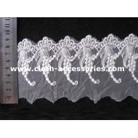 China Wedding Off White Guipure Embroidered Lace Fabric With Graped Shape on sale