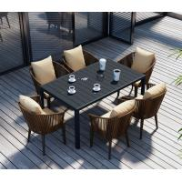 Quality Synthetic PE Rattan wicker chair Outdoor Garden furniture sets Dining chair Coffe table for sale