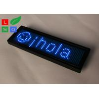 Buy cheap Rechargable Blue Red Yellow Programmable LED Name Badge Sign In Worldwide from wholesalers