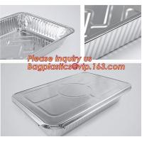 Quality Silver Foil Rectangular Takeout Container with paper lid,Kitchen Use Aluminum Foil Container,700ml food storage containe for sale