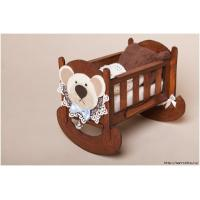 Quality Resistant  Wood  Bady Bed Rails With 2 / 4  Drawer Rural / Cartoon Infanette for sale