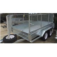 Quality 10x5 Hot Dipped Galvanized Cattle Crate Trailer , Cattle Transport Trailers Manufacturers for sale