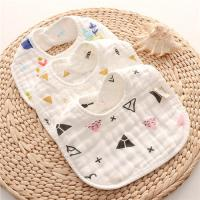 Quality Dyed Premium Muslin Newborn Baby Bibs Absorbent Existing Pattern Eco Friendly for sale