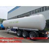 Quality Factory sale best price CLW brand 20tons propane gas tank semitrailer for sale, HOT SALE! 49.6m3 lpg gas tank trailer for sale