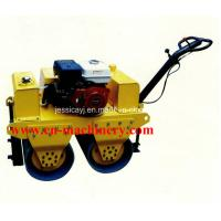 Quality Walk Behind Double Drum Hydraulic Vibratory Road Roller of Construction Machinery for sale