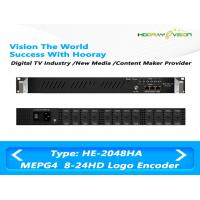 Quality HE-2048HA 8 to 24 Channel MPEG-4 AVC/H.264 HD IP  Multi Channel Encoder support Logo OSD QR code for sale