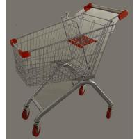 Quality 4 Plastic Folding Wheel Supermarket Shopping Carts with children seat 60L to 240L for sale