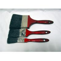 Quality Wholesale Flat Soft Black Bristle Paint Brush With Red Wooden Handle for sale