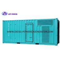Quality Standby Power 1000kVA 800kW Container Electric Start Power Generator for sale