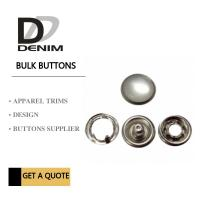 Quality Custom Clothing Snap Buttons Antique Silver Pearl Bulk Size 12 Size 14 Size 16 for sale