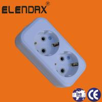 Buy cheap ABS White Two Pin European Extension Socket East Europe Market product