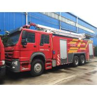 Quality Howo Fire Rescue Truck Water Tower Fire Truck 10 Wheel High Loading Capacity for sale