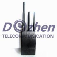 Buy cheap GPS Lojack Mobile Phone Signal Jammer 6 Antenna Omni Directional Handheld 3 Watt from wholesalers