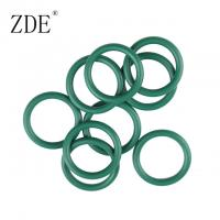 Quality Green O Ring FKM Rubber Ring Seal 2mm Thick Heat Resistance Factory for sale
