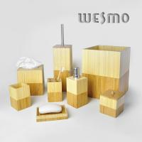 Quality Modern Square Shaped Bamboo Bathroom Sets for sale