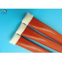 China 4KV Silicone Rubber Sleeve Expandable Braided Sleeving With 2 : 1 Expandable Ratio on sale