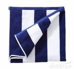Quality 100% Cotton Plush Cabana Stripe Oversize Velour Beach Towel Bath Towel for sale