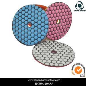 80mm Dry stone marble granite polishing abrasive pads for grinder