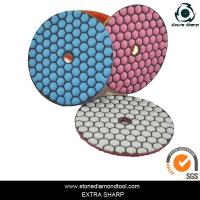 Buy 80mm Dry stone marble granite polishing abrasive pads for grinder at wholesale prices