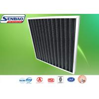 Quality Activated Carbon Synthetic Fiber Industrial Air Filters With Pleated Filter Media for sale