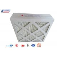 Quality HVAC System Cardboard Frame Fiberglass Air Filters with Mini Pleated Medium for sale