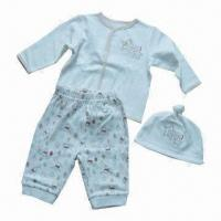 Quality Baby Clothing Set, Consist of Hat, Jacket/Top and Pant, for Baby Wear, with High-quality for sale
