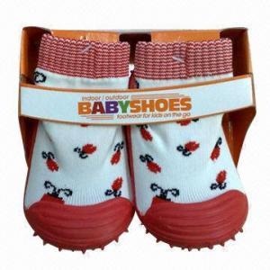 Quality Rubber Sole Kids' Shoe Socks for sale