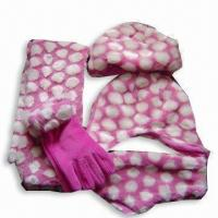 Quality Fur and Fleece Winter Set with Dots for sale