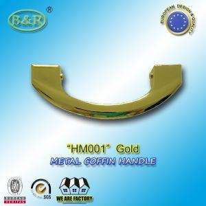 Buy cheap 17 x 6.5cm Metal Coffin Handles HM001 Gold color casket handle european style and design product