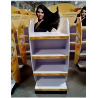 Quality Wood flooring movable hair care shampoo display stand for sale