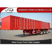 Buy cheap 12.5 m steel tri axles box semi trailer transport engine waterproof product