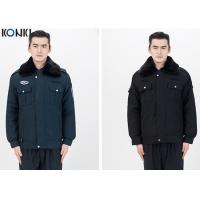 Quality Fur Collar Jacket Security Guard Uniform Winter With Two Pockets for sale